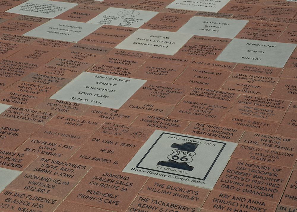 Bricker Pavers with names engraged